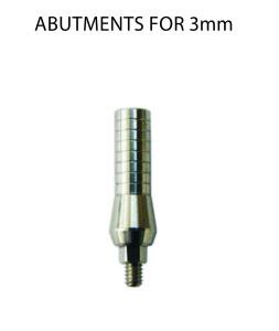 abutments for 3mm log sait
